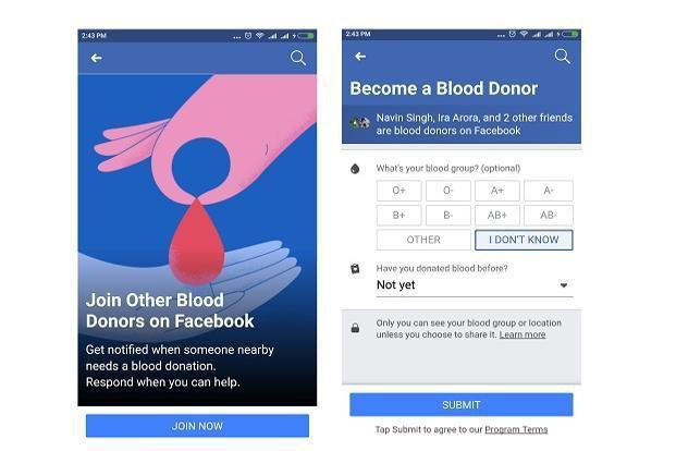 Facebook ra mắt tính năng vận động hiến máu tình nguyện - Ảnh 1.