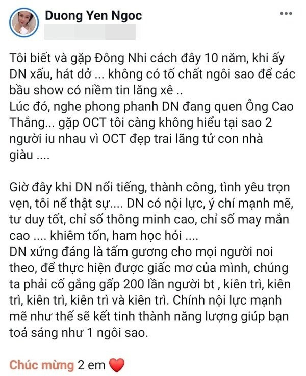 Sự đời Dương Yến Ngọc: Thi Hoa hậu từ thời Ngô Thanh Vân, ly dị đến 2 lần, trước khi đá thúng Đông Nhi đã từng động nia Lan Khuê - Ảnh 1.