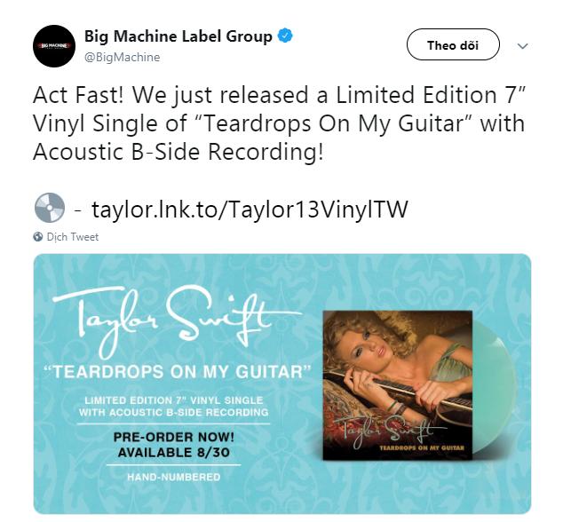 Taylor Swift đáp trả cực gắt tại Amazon Prime Day Concert khi hãng đĩa cũ bất ngờ tái phát hành đĩa đơn của mình - Ảnh 4.