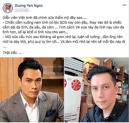 Chơi Facebook như Dương Yến Ngọc: Hết bắt mạch online phán Nam Em trầm cảm, lại trổ tài xem tướng cho Việt Anh khi thẩm mỹ - Ảnh 4.