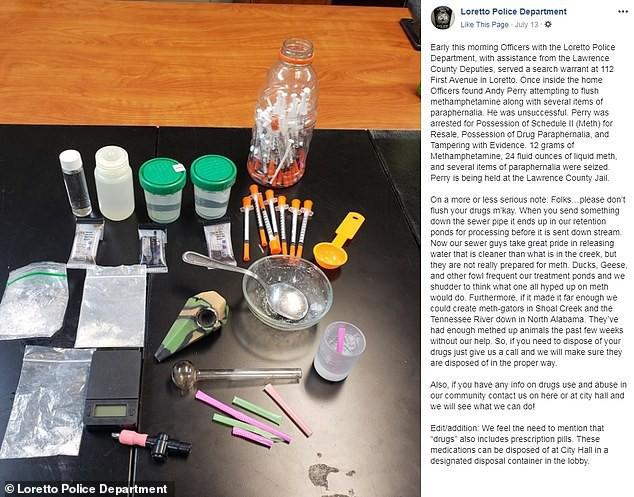 Mỹ: Tội phạm xả ma túy xuống bồn cầu làm cá sấu bị nghiện - ảnh 1
