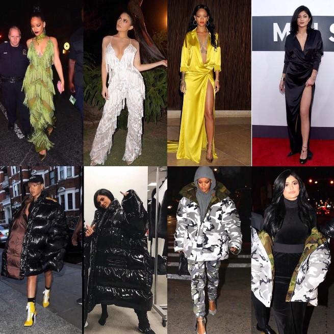 Là vô tình đụng hàng hay Kylie Jenner cố tình cosplay Rihanna? - ảnh 2