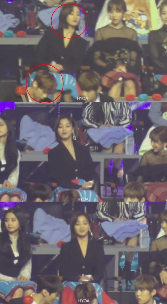 Xem lễ trao giải lại lộ thêm bằng chứng yêu đương giữa Kang Daniel và Jihyo (TWICE): Chàng lấy gương soi nàng giữa thanh thiên bạch nhật? - ảnh 1