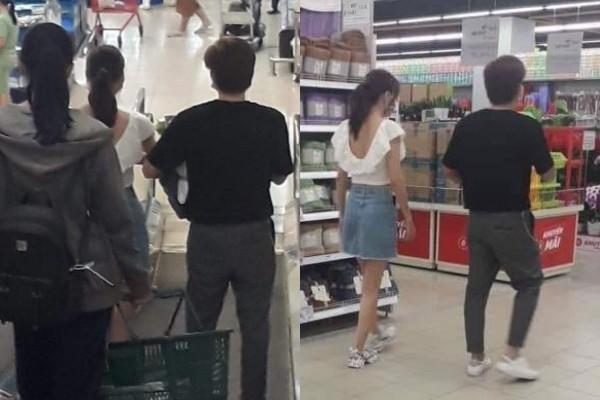 Chi Dân và Lan Ngọc lại tiếp tục bị bắt gặp đi siêu thị mua sắm cùng nhau giữa tin đồn bí mật hẹn hò - Ảnh 1.