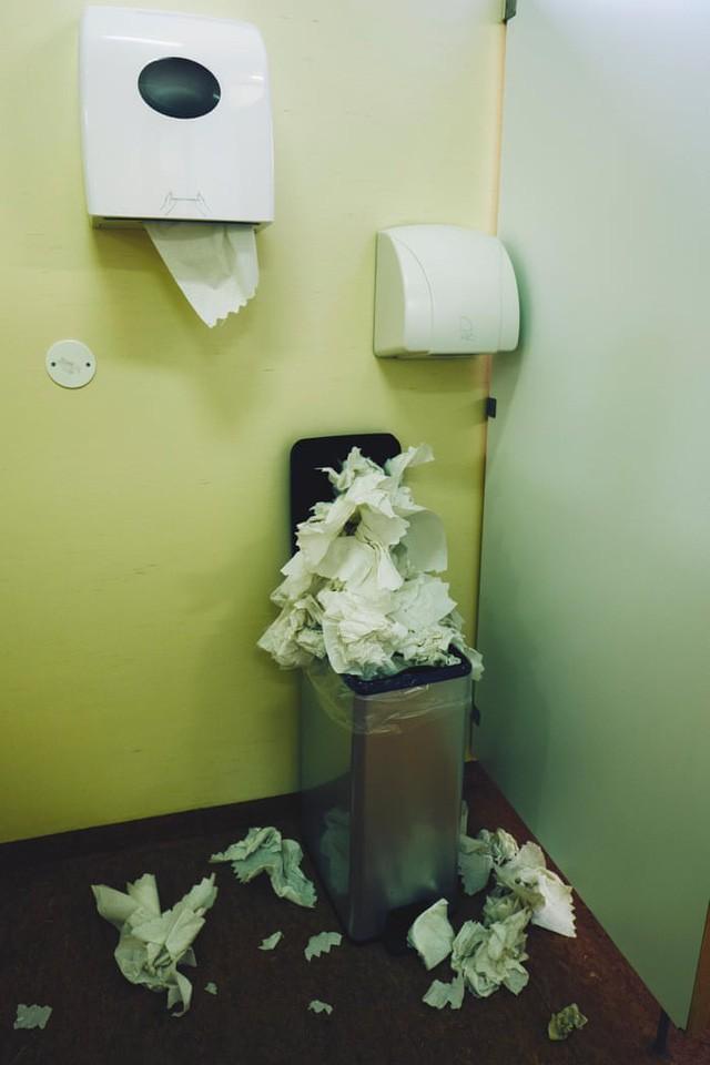 Giấy vệ sinh vs Máy sấy tay: Cuộc đại chiến không hồi kết trong toilet - ảnh 3