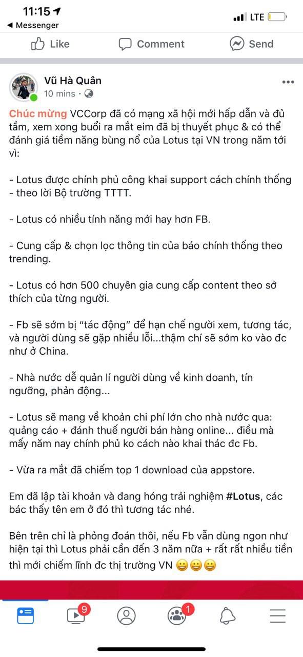 """Dân tình hào hứng sau đêm ra mắt MXH Lotus: """"Có thêm mạng xã hội nữa cũng tốt, có thêm nền tảng cho content sạch cũng tốt"""" - ảnh 5"""