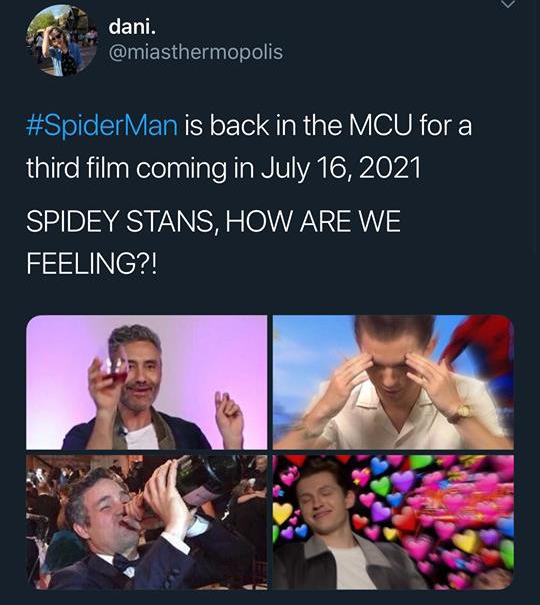 """""""Crush"""" Tom Holland lên MXH đăng clip Spider-Man ngúng nguẩy vòng 3 ăn mừng nhện nhọ hết đi bụi - ảnh 9"""