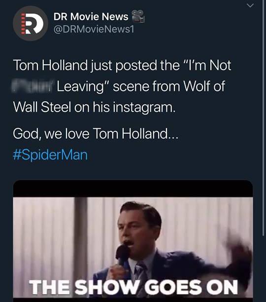 """""""Crush"""" Tom Holland lên MXH đăng clip Spider-Man ngúng nguẩy vòng 3 ăn mừng nhện nhọ hết đi bụi - ảnh 7"""