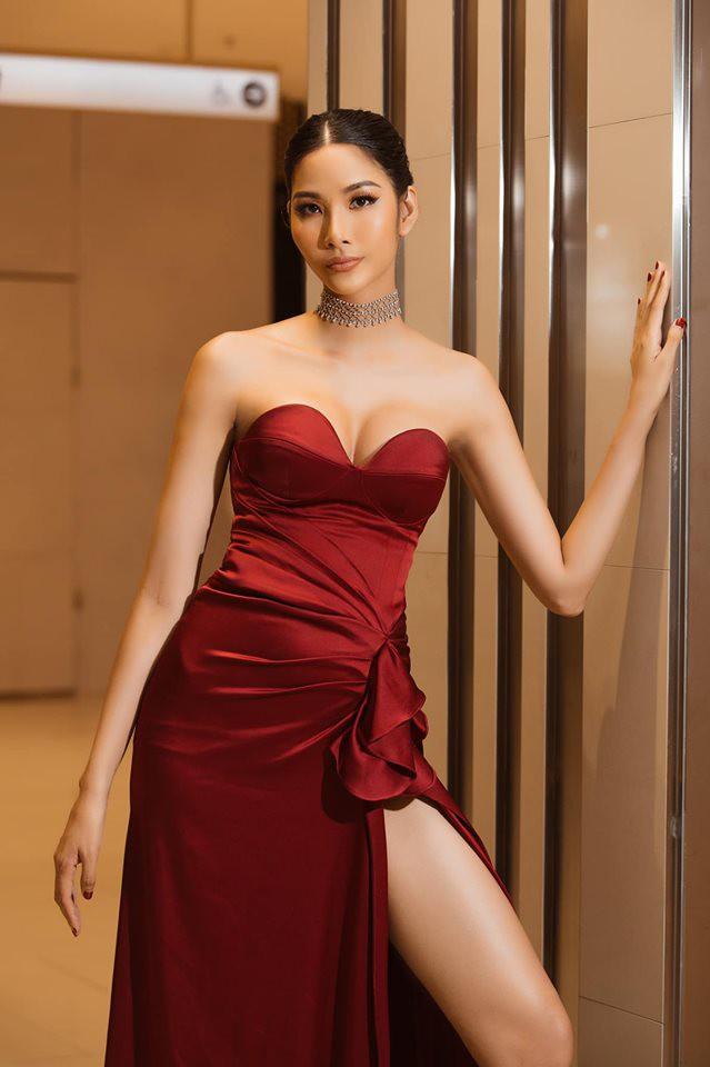 Hoàng Thùy phớt lờ tin đồn nâng ngực để thi Miss Universe 2019, chăm diện váy áo khoe trọn vòng 1 căng tròn - Ảnh 9.