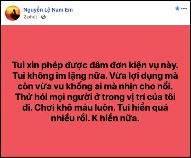 Nam Em tiếp tục lên tiếng về scandal bị tố giật chồng, tiết lộ ngỡ ngàng về mối quan hệ với VJ Quốc Bảo - ảnh 3