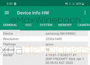 Lộ diện video trên tay Samsung Galaxy S20 Plus: Không còn cong nhiều, màn hình 120Hz, mất jack cắm tai nghe 3.5mm - ảnh 3
