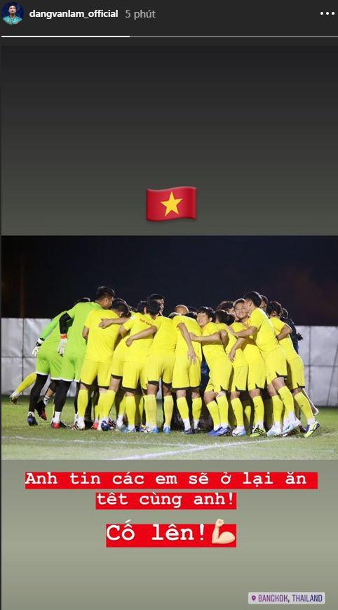 Đặng Văn Lâm cổ vũ U23 Việt Nam trước trận cầu sinh tử với U23 CHDCND Triều Tiên: Anh tin các em sẽ ở lại ăn Tết cùng anh - ảnh 1