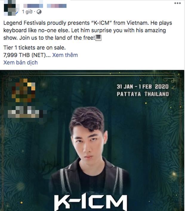 Cư dân mạng tràn vào công kích fanpage lễ hội âm nhạc quốc tế mời K-ICM biểu diễn, buộc BTC phải xoá bài đăng? - ảnh 1