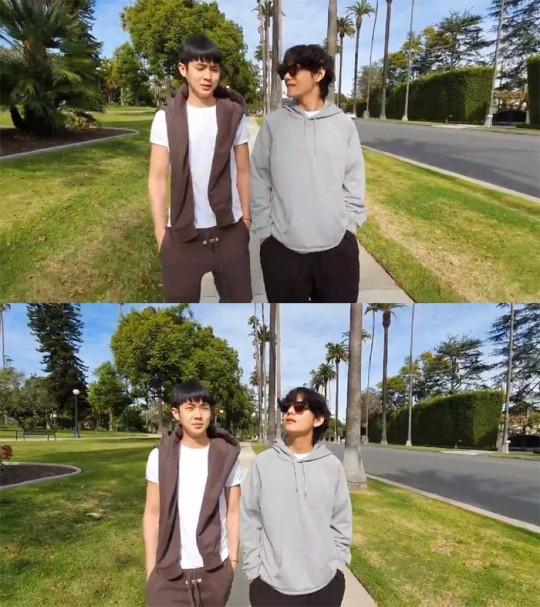 Đẳng cấp bạn thân hậu sao Kí Sinh Trùng thắng giải lớn: Park Seo Joon và V (BTS) thi nhau dìm hàng chúc mừng Choi Woo Sik - ảnh 3
