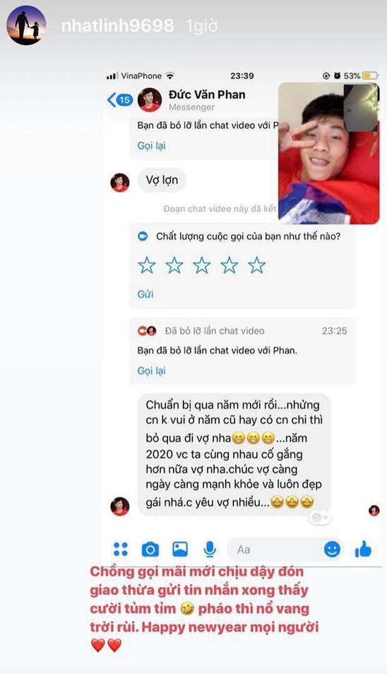 Đêm giao thừa ngọt ngào của hội tuyển thủ Việt Nam: Văn Hậu gọi video với bạn gái từ trời Âu, Văn Đức miệt mài gọi vợ dậy đón năm mới - ảnh 3