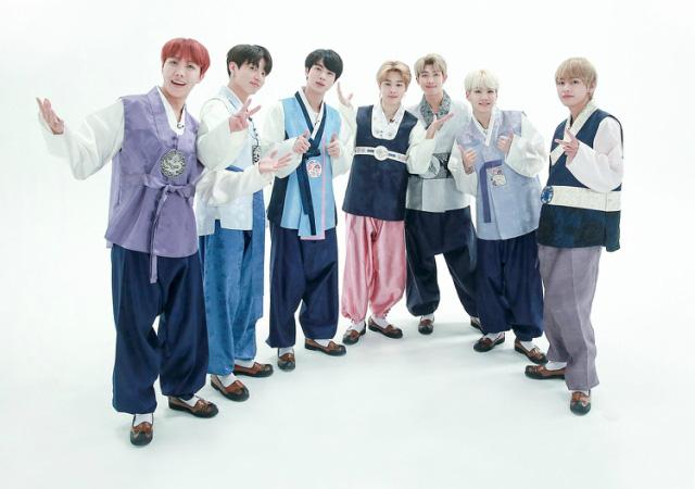 BTS lột xác khi diện hanbok trên show thực tế nhân dịp đầu năm mới - ảnh 5