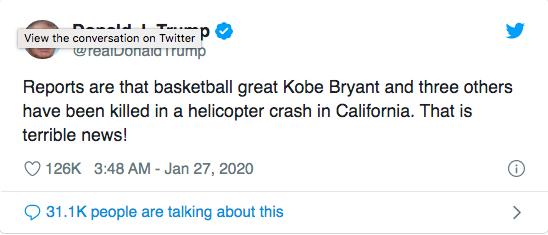 Justin Bieber, Tổng thổng Mỹ và dàn sao thế giới bàng hoàng trước tin Kobe Bryant qua đời vì tai nạn rơi trực thăng thảm khốc - ảnh 11