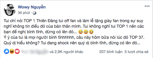 Trót dại tuyên bố làm lễ tặng giày nếu đạt #1 YouTube, Wowy hoảng hốt đăng đàn mong fan ngừng cày view vì leo trending vèo vèo - Ảnh 3.