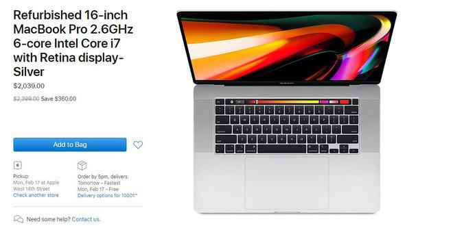 MacBook Pro 16 inch mới nhất đã có hàng tân trang, giá bán giảm ngót nghét 10 triệu - ảnh 1