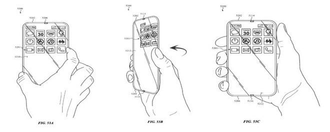 Bằng sáng chế iPhone kỳ lạ: Apple muốn sản xuất với màn hình cuộn quanh thân máy - ảnh 1