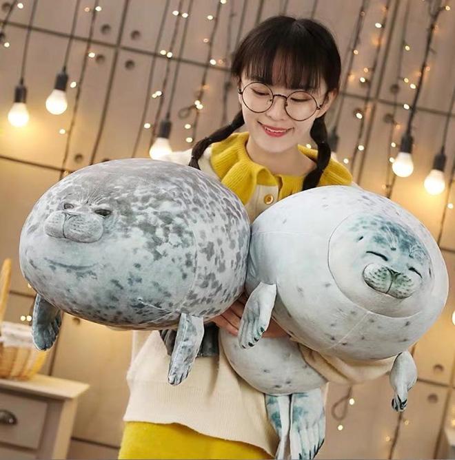 Chiếc gối ôm thương hiệu hải cẩu béo ú này đang làm mưa làm gió trên Internet vì độ mập mạp và dễ cưng của mình - ảnh 1
