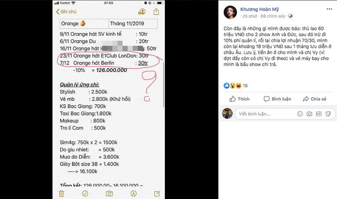 Orange và LyLy tung loạt bằng chứng tố công ty Châu Đăng Khoa: Thù lao gần 10.000 USĐ nhưng chỉ nhận về số tiền thực tế là... 60 triệu VNĐ - ảnh 9