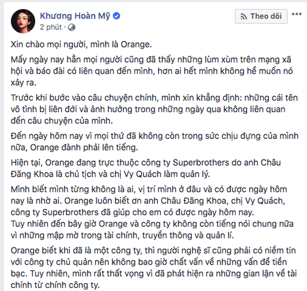 Phát hiện Châu Đăng Khoa tung status ẩn ý chuyện vô ơn, hai mặt trước khi bị Orange và Lyly đồng loạt tố - ảnh 2