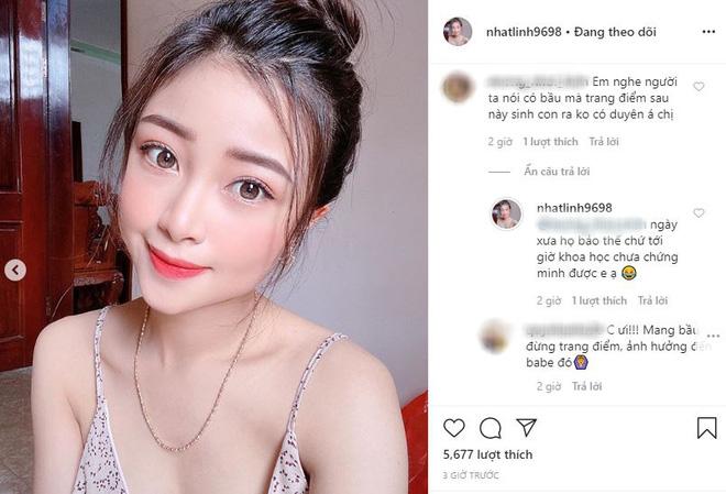 Nhật Linh (vợ Văn Đức) khoe ảnh sexy, bắt trend thả thính ngọt ngào: Yêu không cần cớ. Cần Đức cơ. - Ảnh 2.