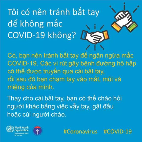 Chào hỏi trong mùa dịch COVID-19: Bộ Y Tế và WHO chỉ dẫn cách chào hỏi an toàn nhất - Ảnh 2.