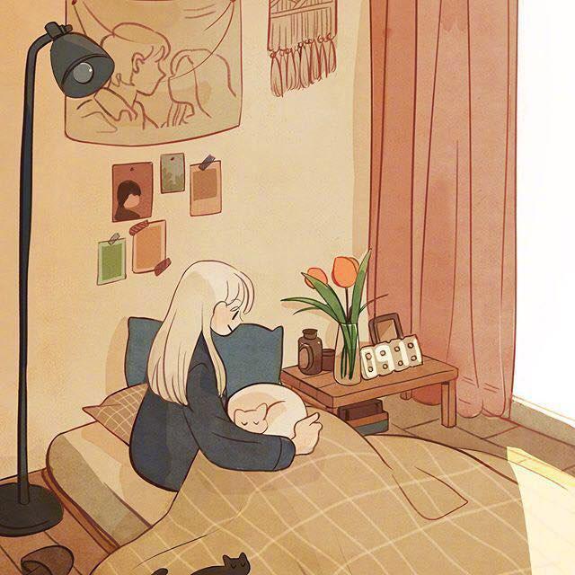 Bộ tranh: Con gái thường làm gì lúc ở nhà một mình? - Ảnh 7.