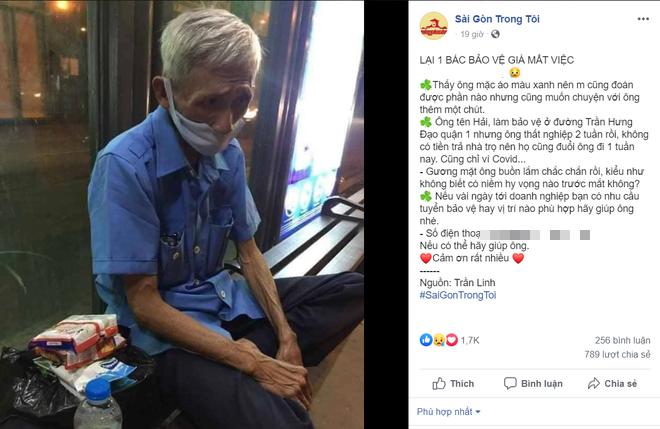 Được cộng đồng mạng giúp đỡ sau khi mất việc, bác bảo vệ già ở Sài Gòn xúc động: Con ơi, hãy giúp người khó khăn hơn - Ảnh 1.