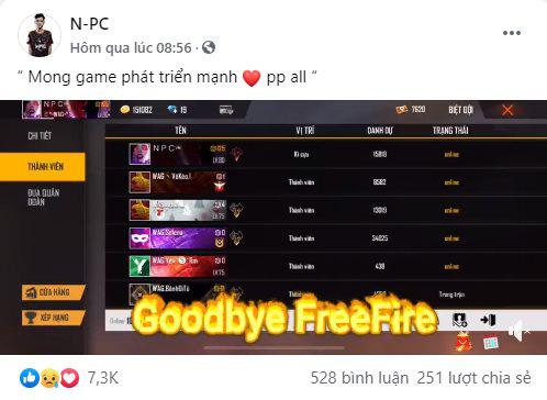Free Fire: Game thủ dính thị phi với Team Flash tuyên bố nghỉ game, tuy nhiên đó chỉ là một cú lừa! - Ảnh 2.