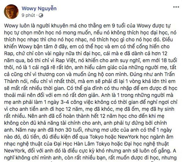 Sau 2 tập phát sóng Rap Việt, HLV Wowy bị dân mạng bóc là không có lập trường trong việc chọn thí sinh nhưng sự thật là gì? - Ảnh 6.