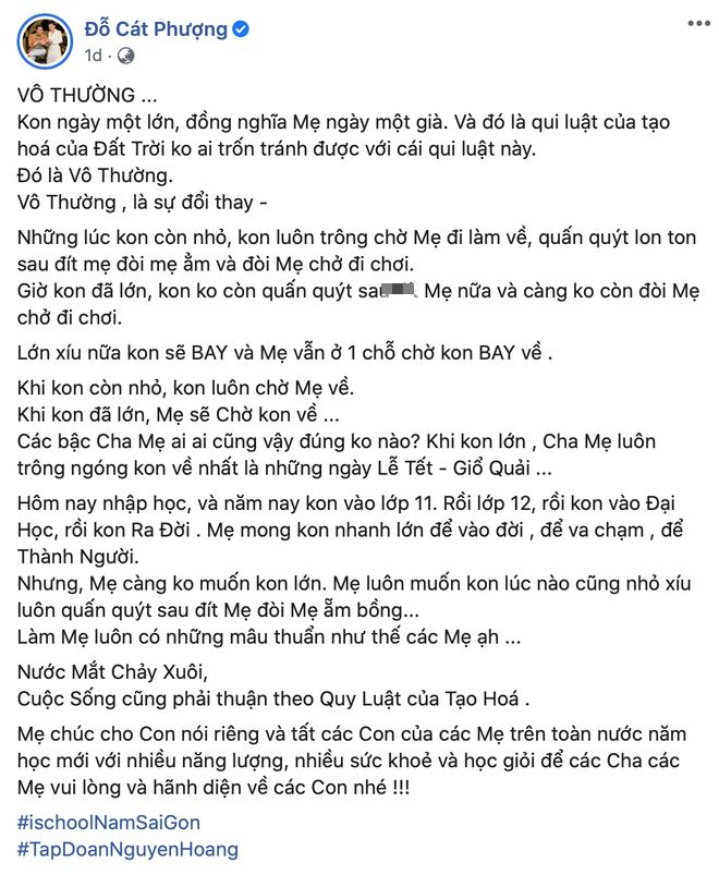 Sao Việt ngày đầu cho con nhập học: Lâm Vỹ Dạ cẩn thận chuẩn bị khẩu trang phòng dịch, Hoàng Bách tự so sánh sự trẻ trung của mình với... con gái - Ảnh 7.