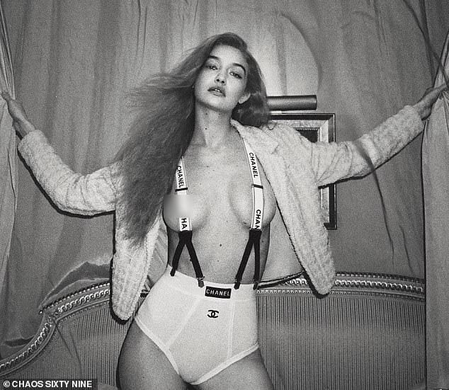 Bà bầu hot nhất Hollywood Gigi Hadid đốt mắt netizen với bộ ảnh bán khoả thân: Vòng 1 căng tràn thả rông, thần thái ngút ngàn - Ảnh 2.