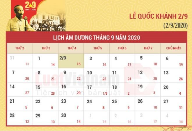 Lễ Quốc khánh 2/9/2020 được nghỉ mấy ngày? - Ảnh 1.