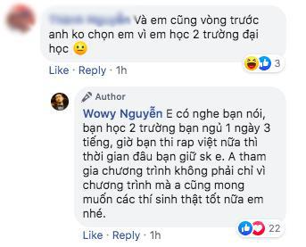 Lão đại Wowy gây tranh cãi tại Rap Việt khi khuyên thí sinh nên chọn Đại học thay vì Rap - Ảnh 10.