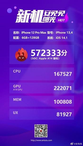 iPhone 12 Pro Max rò rỉ thông số, chip A14 mạnh không ngờ! - Ảnh 2.