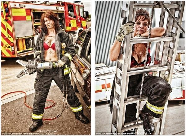 Những lính cứu hỏa xinh đẹp cởi áo chụp ảnh 3