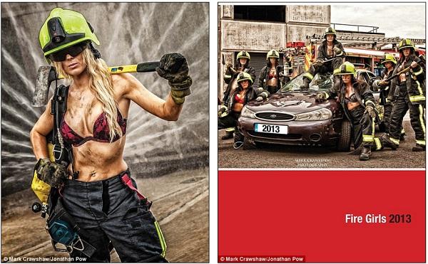 Những lính cứu hỏa xinh đẹp cởi áo chụp ảnh 9