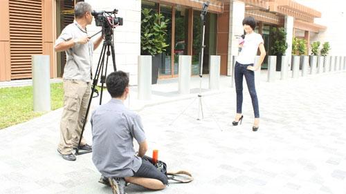 Thùy Trang tự tin tại họp báo Asia's Next Top Model 4