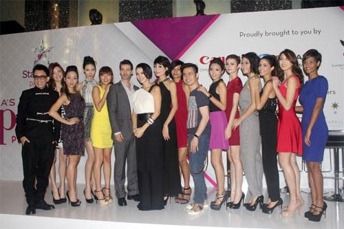 Thùy Trang tự tin tại họp báo Asia's Next Top Model 2