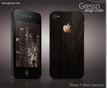 iPhone 4 lộng lẫy với kim cương đen