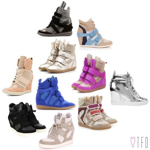 """Wedge Sneaker - xu hướng giày """"độn"""" cực cá tính 1"""