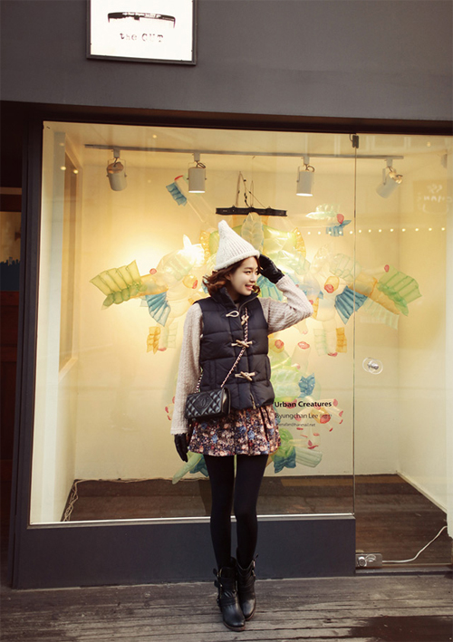 Học cách mix áo phao cực chất cho những ngày lạnh mưa gió 18