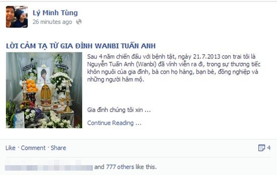 "Đám tang Wanbi Tuấn Anh phủ ""màu trắng"" Facebook sao tuần qua 8"