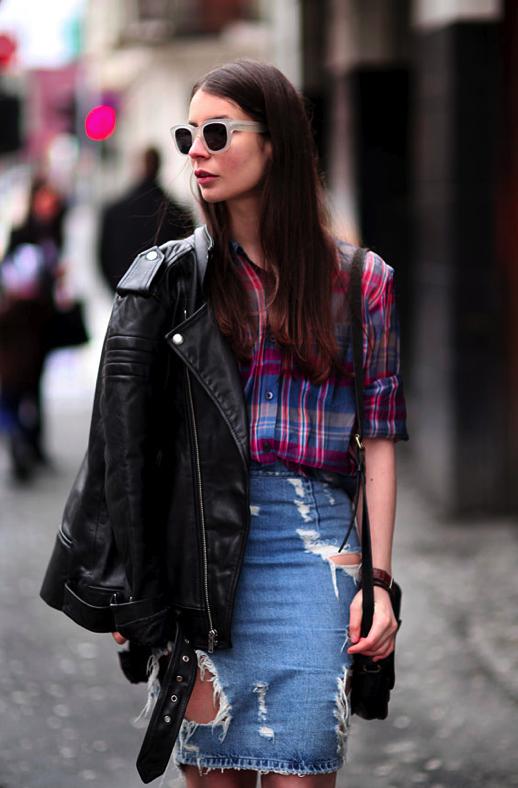 """9 cách mặc kẻ caro """"chuẩn"""" như fashionista 3"""