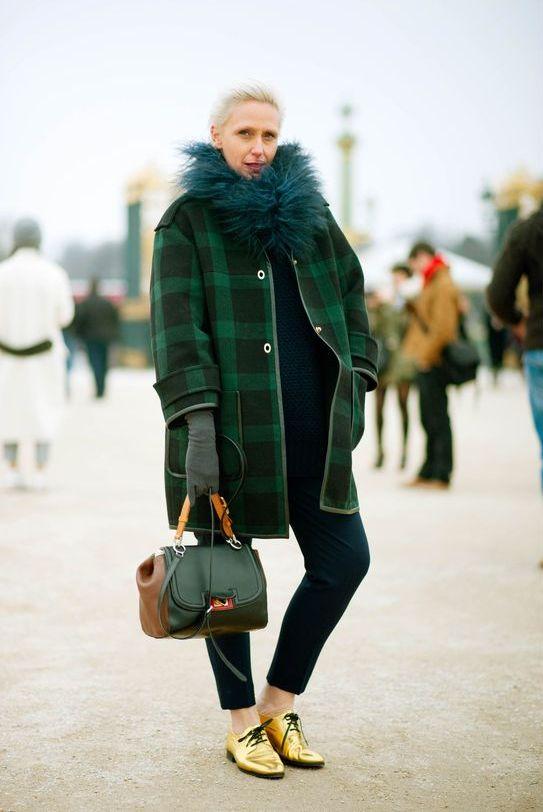"""9 cách mặc kẻ caro """"chuẩn"""" như fashionista 24"""
