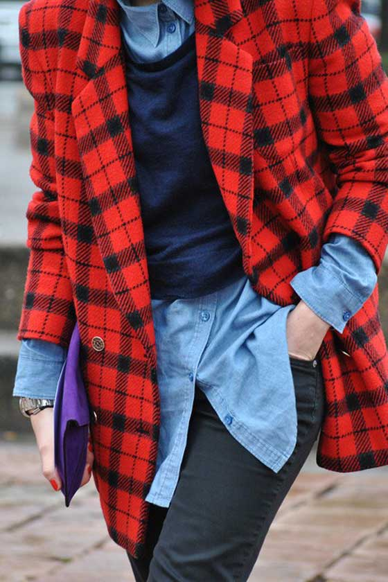 """9 cách mặc kẻ caro """"chuẩn"""" như fashionista 13"""
