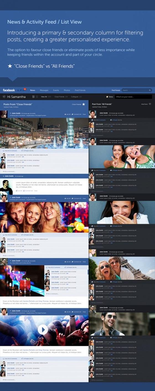 """Giao diện Facebook """"tái thiết kế"""" đẹp mắt 4"""